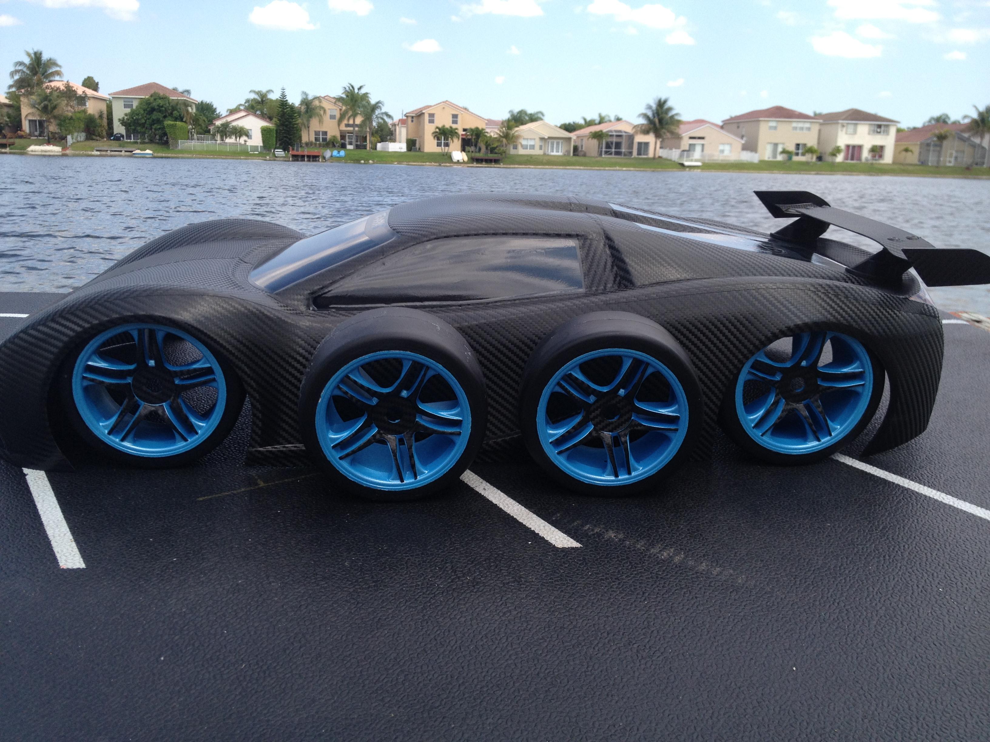 Traxxas xo 1 super car custom body oak man designs