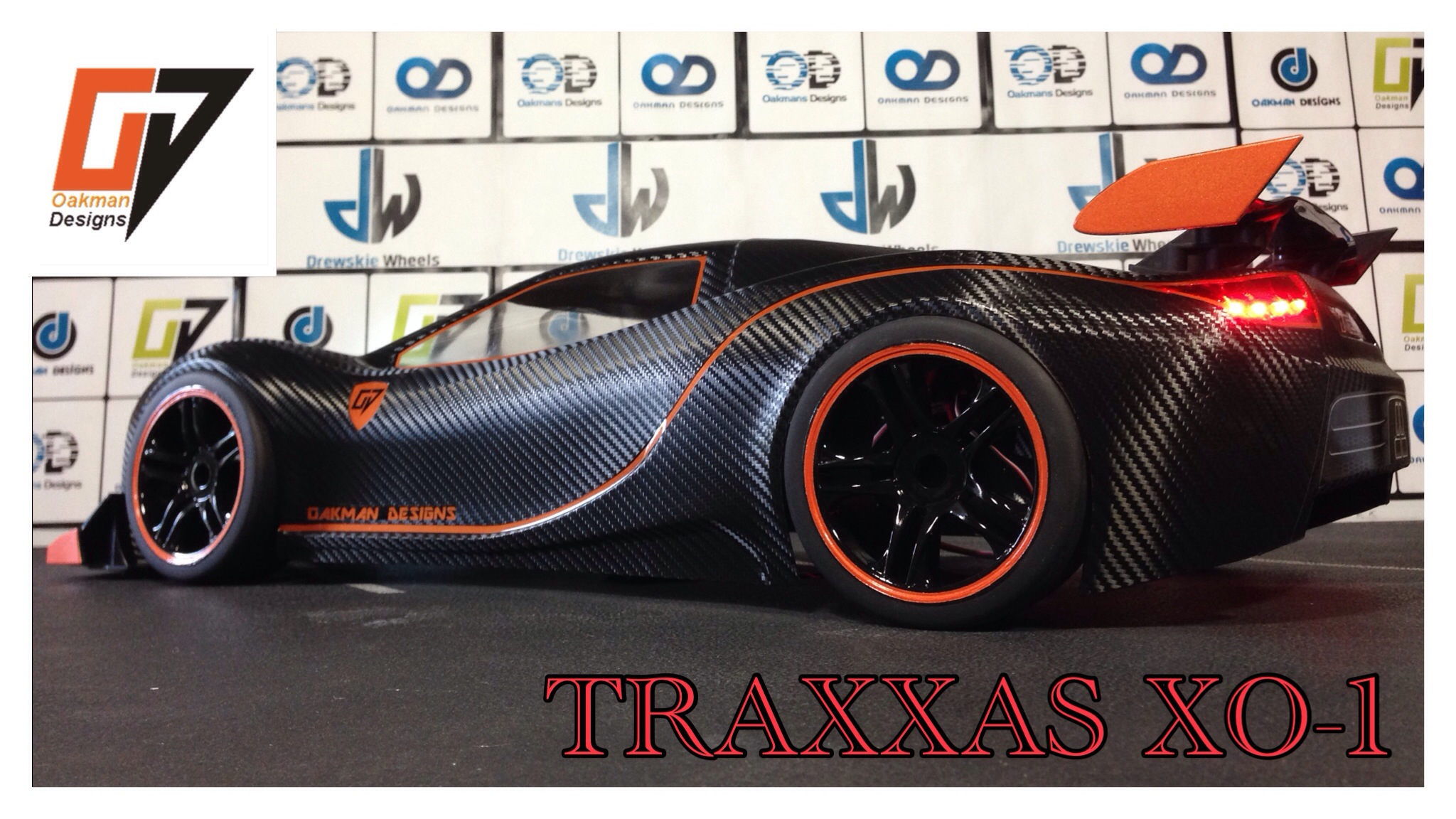 Traxxas XO1 carbon fiber body $180 plus $18 shipping in the us international shipping $38