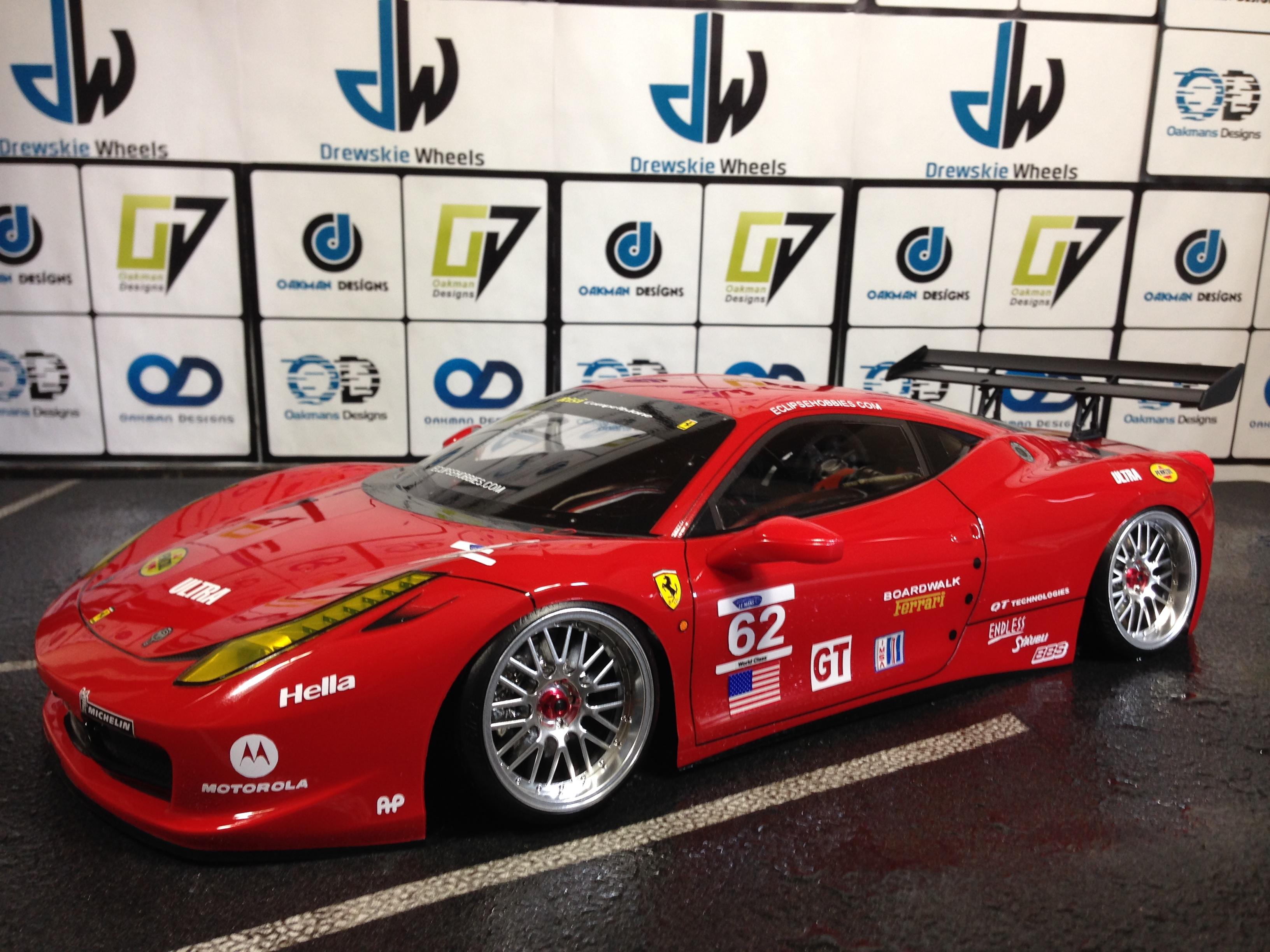 Tamiya Ferrari 458 Challenger Oak Man Designs