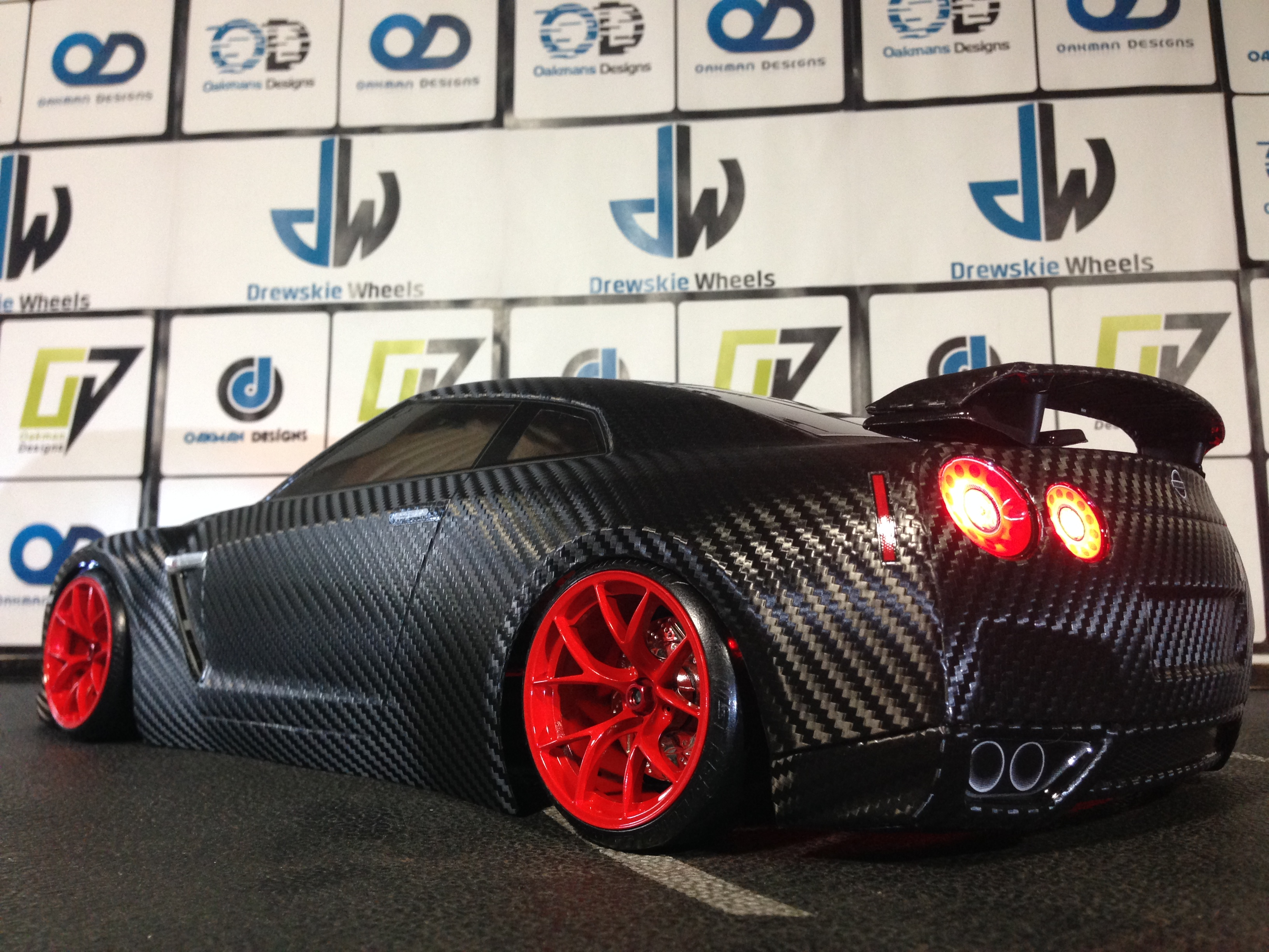 Carbon Fiber Wheels >> HPI 200mm Nissan GTR Custom Carbon Fiber Body | Oak-man ...