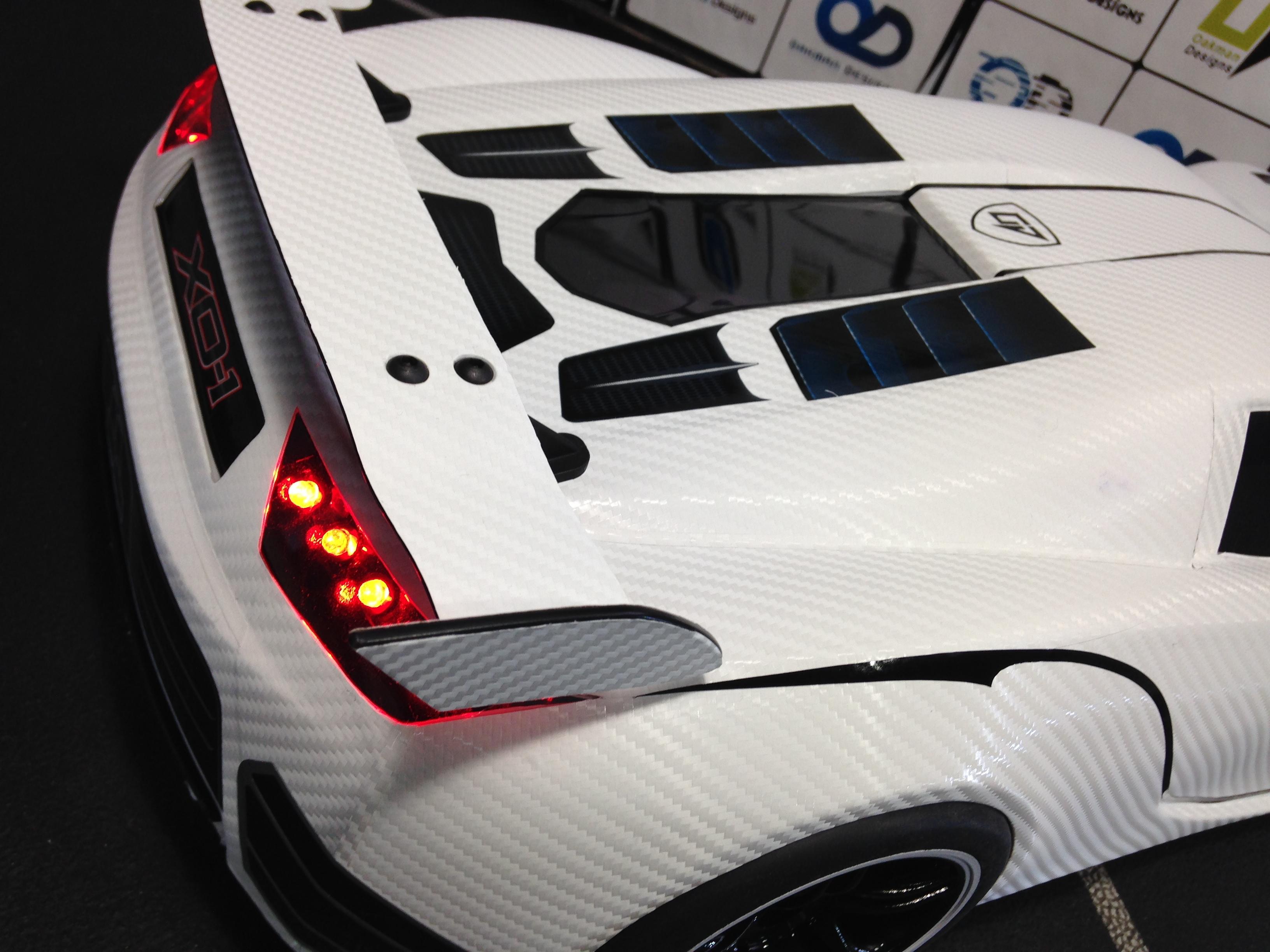 White Carbon Fiber Traxxas Xo 1 Body Shell Oak Man Designs