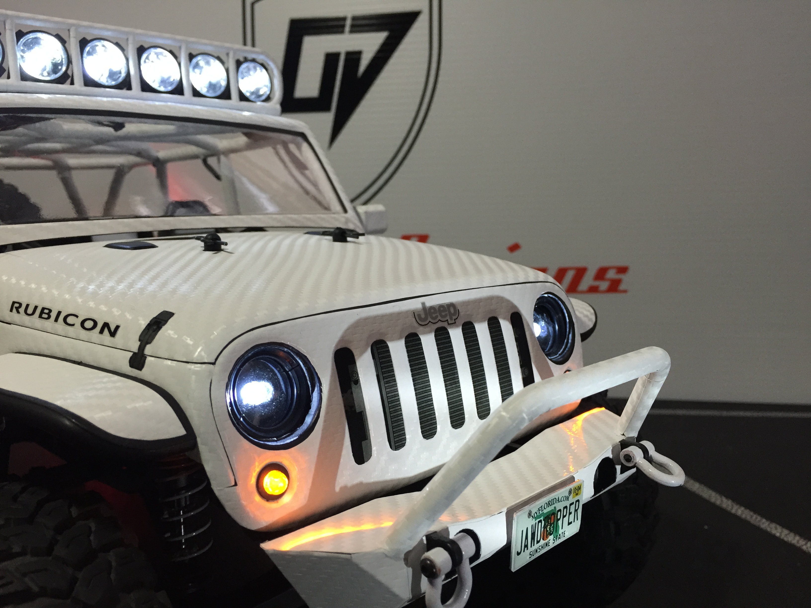 Axial 1/10 SCX10 2012 Jeep Wrangler Rubicon CUSTOM BODY ...