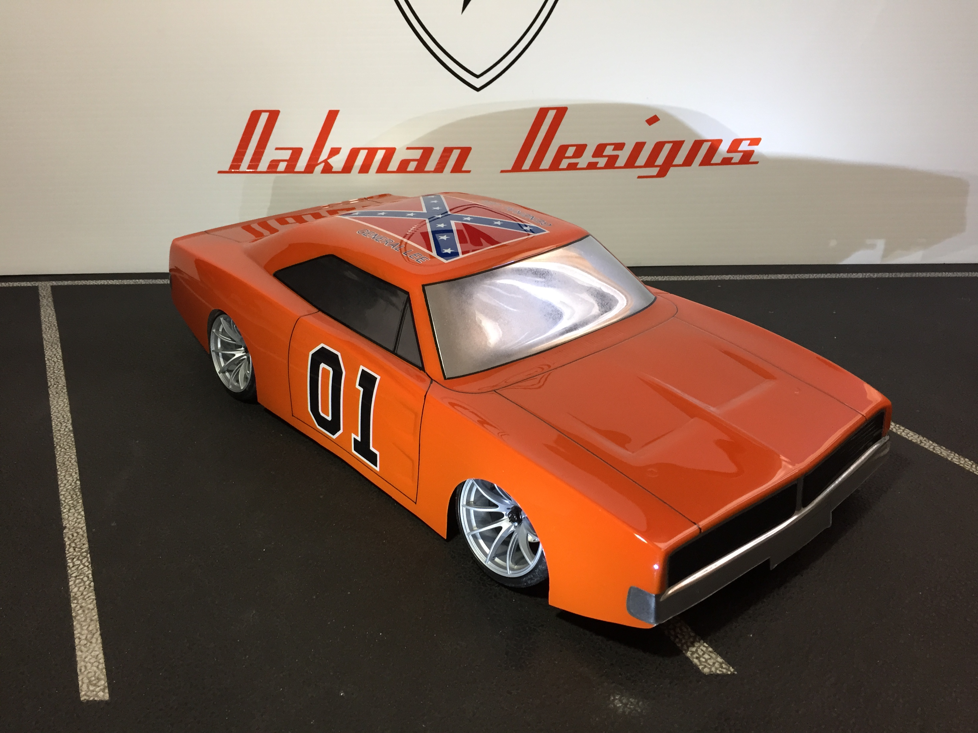 Custom Rj Speed 69 Charger General Lee Edition Body Car Oak