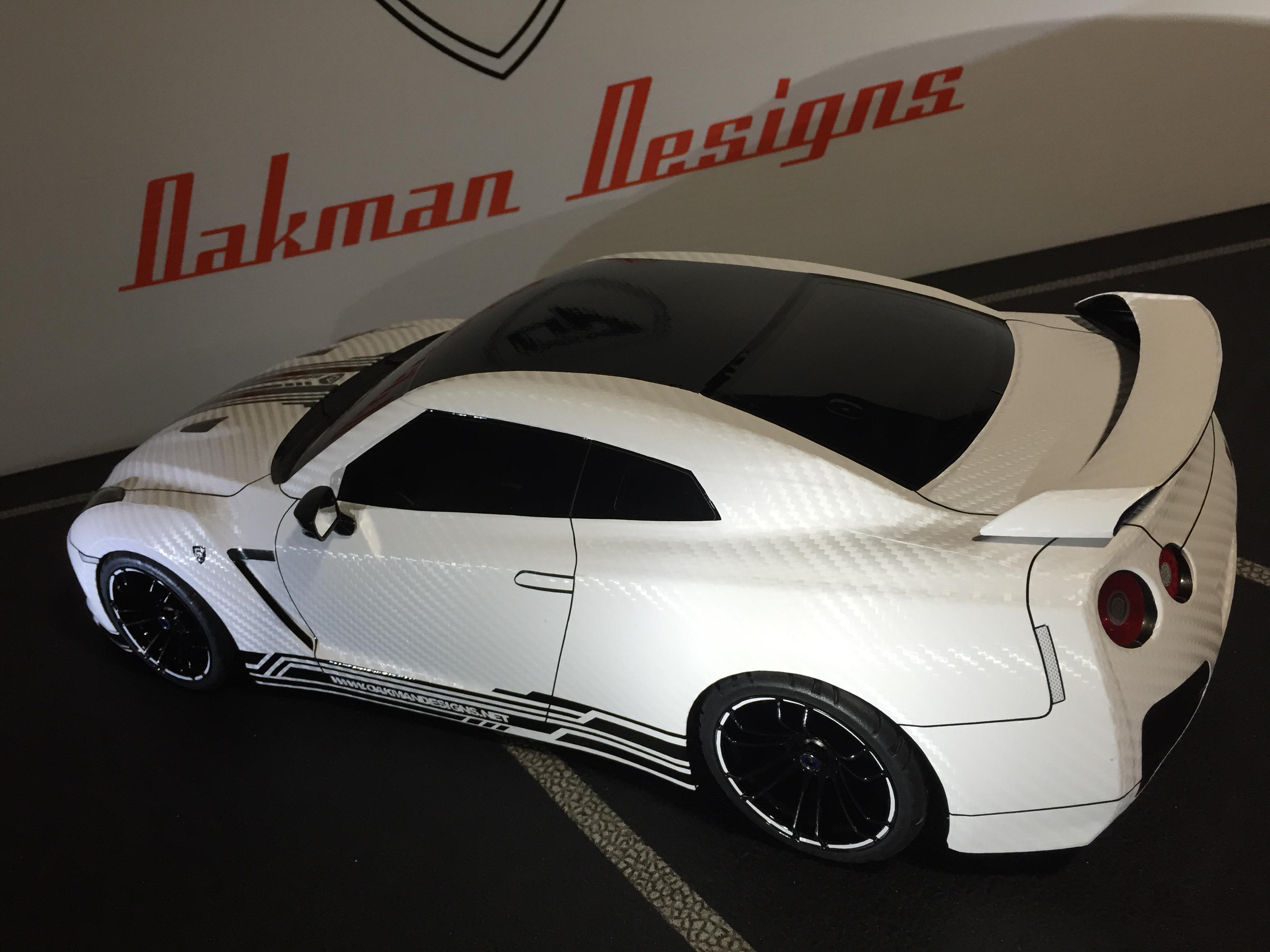 CUSTOM 190MM TAMIYA NISSAN GTR RC BODY SHELL / CAR | Oak-man